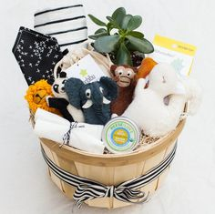WELCOME BABY Gift Basket – Present Day