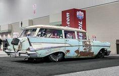 Wicked pro Street 1957 Chevy wagon