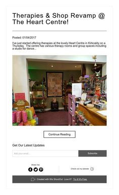 Therapies & Shop Revamp @ The Heart Centre!