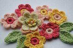 Crochet flowers - Blog Hanim