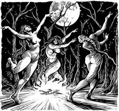 Result of witches dance image Dark Fantasy, Fantasy Art, Magick, Wiccan, Witches Dance, Witch Tattoo, Satanic Art, Occult Art, Demonology