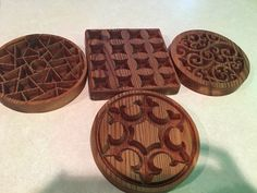 Cookie molds made by dear husband.