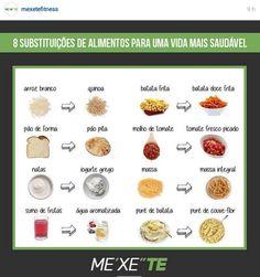 8 Substituições de alimentos para uma vida mais saudável