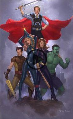 So Thor is gay. Artist: Andy Park – So Thor is gay. Artist: Andy Park So Thor is gay. How I Met Your Mother, Thor, Cobie Smulders, Funny Drawings, Cartoon Drawings, Jack Kirby, Geeks, Two And Half Men, T Movie
