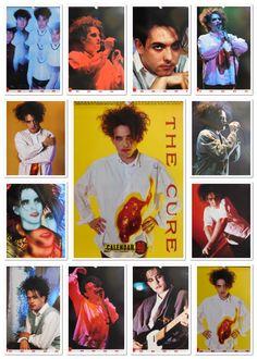 The Cure - Unofficial calendar 1990  #The #Cure #Calendar #1990 #Promo #Robert #Smith