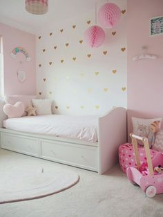 Amelie's Soft Pink and Gold Toddler Bedroom Girls Bedroom Decor