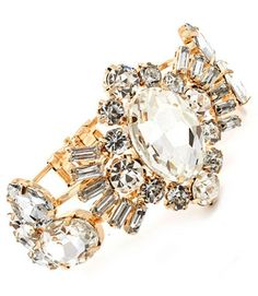 ART DECO CRYSTAL GOLD BRACELET