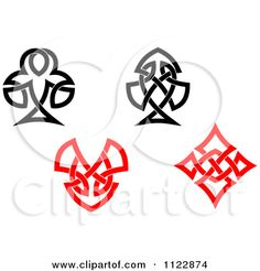 Clipart Of A Black Spade Celtic Knot Poker Playing Card Symbol ...