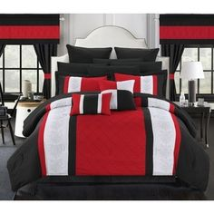 Shop for Chic Home Dylania Red 24-piece Bed in a Bag with Sheet Set. Get free shipping at Overstock.com - Your Online Fashion Bedding Outlet Store! Get 5% in rewards with Club O!
