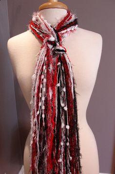 Ohio State fringe scarf