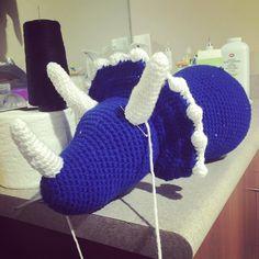 Kids in bed means lots of progress on this guy... Can't wait to be done #crochet #crocheted #crochetersofinstagram #crochetlove #crocheting #crochetamigurumi #crochettriceratops #dinosaur #triceratops #ilovehandmade #ilovecrochet by mimicrochetcreations