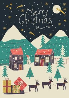 Image shared by Merly Dzib. Find images and videos about wallpaper, christmas and merry christmas on We Heart It - the app to get lost in what you love. Christmas Time Is Here, Noel Christmas, Little Christmas, Winter Christmas, Vintage Christmas, Merry Christmas Card, Christmas Quotes, Christmas Design, Christmas 2017