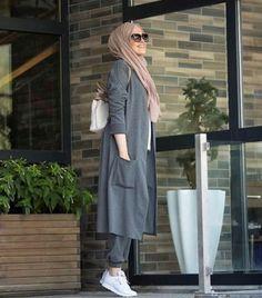 Fall hijab fashion designs – Just Trendy Arab girls fashion , Muslim fashion , Iran fashion, Dubai fashion, arab fashion trend 2018 Street Hijab Fashion, Abaya Fashion, Muslim Fashion, Modest Fashion, Girl Fashion, Fashion Looks, Fashion Outfits, Fashion Design, Fashion 2018