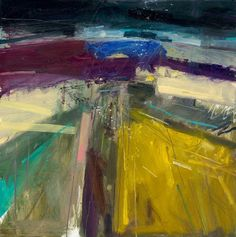 Peter Iden Artist: Sussex Abstract 2010 Oil on Board Estate of Peter Iden Abstract Landscape Painting, Seascape Paintings, Abstract Canvas, Landscape Art, Landscape Paintings, Oil Paintings, Mountain Landscape, Beautiful Landscape Photography, Beautiful Landscapes