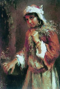 Girl with Hat - Konstantin Makovsky - WikiArt.org