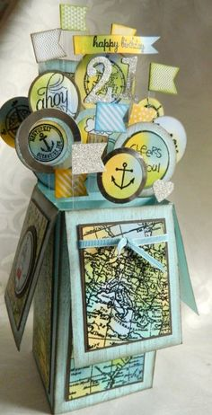 nautical card in a box  Stampin' Up!