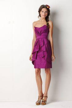 Bougainvillea Timeless #Strapless Slim Knee Length #Bridesmaid #Dress