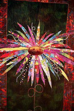 Wildflower Quilt by Carolyn Flood