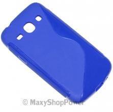 SSYL CUSTODIA TPU BACK COVER CASE SILICONE SAMSUNG GALAXY CORE PLUS G350 BLU BLUE - SU WWW.MAXYSHOPPOWER.COM