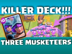Killer Musketeers in Clash Royale? Watch this episode to find out how awesome this 3 Musketeers card works in Clash Royale Attacks. Are these three musketeer...