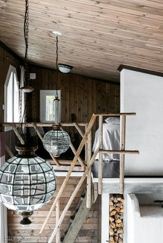 Scandinavian small dream house loft hall of homes style log and timber . Dream House Interior, Interior Stairs, Dream House Plans, Small House Plans, Loft Lighting, Small Loft, Floor Layout, Scandinavian Home, Healthy Snacks For Kids