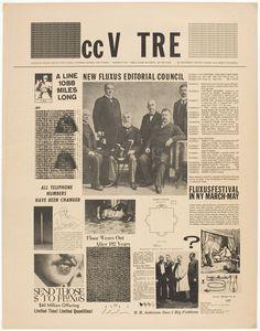 George Brecht, George Maciunas. cc V TRE  (Fluxus newspaper # 1), 1964