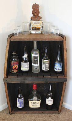 Vintage whiskey barrel bar barriles pinterest tambor for Jardin secreto wine