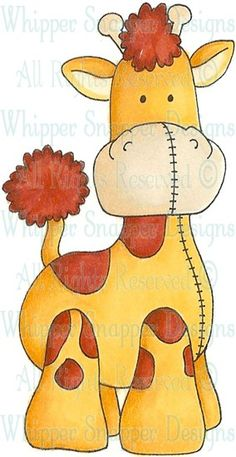 Stuffed Giraffe - Zoo - Animals - Rubber Stamps - Shop