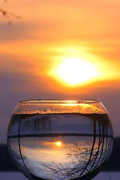 Sunset Reflection ~ By Anglas http://pinterest.com/gprocksu