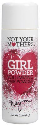 Not Your Mother's Girl Powder.  I've used this stuff, and it is my go-to product! I seriously love it. Its so much better than hairspray because it doesn't leave your hair crunchy