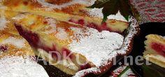 Tvarohový koláč s piškoty a malinami