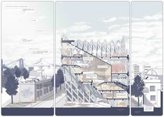 Bicentennial Library Diagrams. Synthesis Place Plans & sections Structure Detail Illustration Comic Sequence Scale Model Sketches