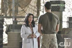 Beauty and the Beast -- Trapped -- Pictured (L-R): Khaira Ledeyo as Dr. Chandler and Jay Ryan as Vincent-- Image Number: BB107a_0107.jpg -- Photo: Ben Mark Holzberg/The CW --  2012 The CW Network, LLC. All rights reserved.
