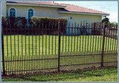 Unusually Black Wire Fence