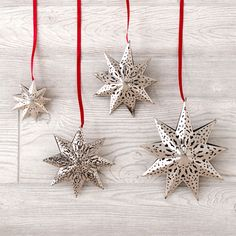 4 Piece Star Ornament Set