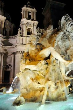 Trevi Fountain ...Take a late-night walk in Rome