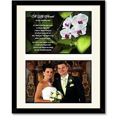 Wedding Photo 8x10 Frame Keepsake Thank You Appreciation Poem To Mom And Dad #PoetryGifts