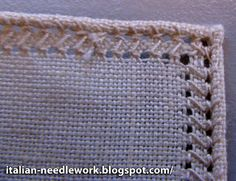 Italian Needlework: Rolled Hem - Corners