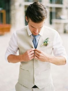 55 Stylish Groom Looks Without Jackets | HappyWedd.com