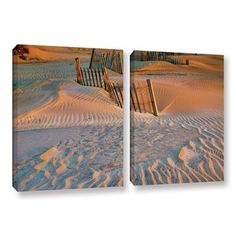 ArtWall Dune Patterns Ii by Steve Ainsworth 2 Piece Photographic Print on Wrapped Canvas Set Size: