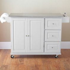 Kitchen Cart with Stainless Steel Top (775-4322) #HomeAtJCP