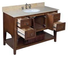 999 The Washington: classic American style.  This bathroom vanity set includes…