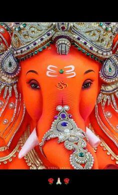Shri Ganadhisha Stotra Shiv Shakti Krutha in Sanskrit ( श्रीगणाधीशस्तो – Devshoppe Shri Ganesh Images, Ganesh Chaturthi Images, Ganesha Pictures, Radha Krishna Images, Ganesha Drawing, Lord Ganesha Paintings, Ganesha Art, Shri Hanuman, Shree Ganesh