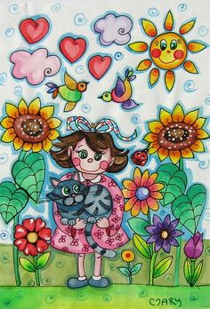 Crazy Cat Lady, Crazy Cats, Drawing For Kids, Art For Kids, Easy Scenery Drawing, Diy Paper, Paper Crafts, Creative Kids, Decor Crafts