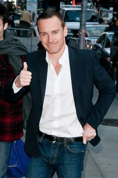 "Michael Fassbender makes and appearance on ""The Late Show with David Letterman"" in New Phk."