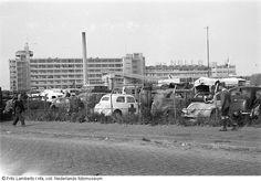 Verwoeste fabriek van Van Nelle in Rotterdam (1943-1945)