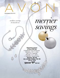 Avon eBrochure Merrier Savings. Shop Online at www.youravon.com/phyllisasmith #Avonrep #jewelry #giftsforwomen #Avonproducts