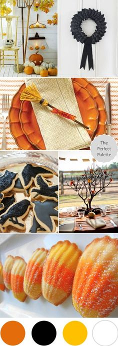Happy Halloween! http://www.theperfectpalette.com/2012/10/all-hallows-eve-palette-of-orange-black.html