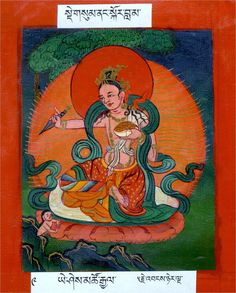 Yeshe Tsogyal, consort of padmasmanhava. Key in the founding of buddhism in Tibet