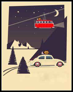 Hoi! Ik heb een geweldige listing op Etsy gevonden: https://www.etsy.com/nl/listing/209417949/vw-volkswagen-campervan-en-kever-kaart